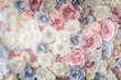 Quadro Backdrop of colorful paper roses