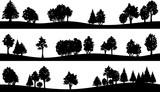 landscape silhouette set
