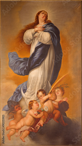 Fototapeta Malaga - painting of Immaculate Conception of Virgin Mary