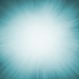 bright white sunburst design on teal blue sunburst pattern background with white bokeh lights, zoomed in effect border