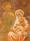 Banska Bela - fresco of Holy Family