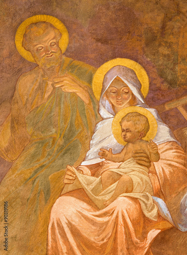 Aluminium Jezus Christus Banska Bela - fresco of Holy Family