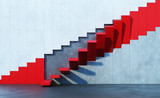 red stairs leading upward - 90331749
