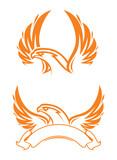 Phoenix and ribbon