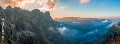 Morskie Oko - sunset, view from Rysy