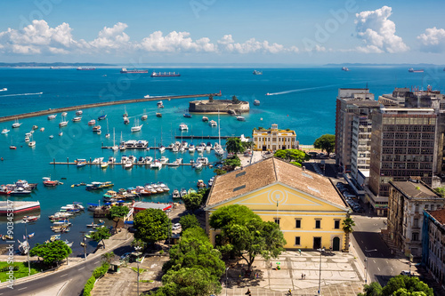 Aluminium View of All Saints Bay in Salvador, Bahia, Brazil