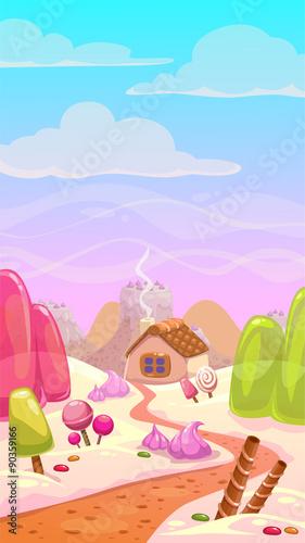 Papiers peints Lilas Candy world illustration