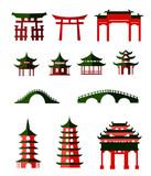 "Chinese traditional pavilions 90368990,lanterns background"""