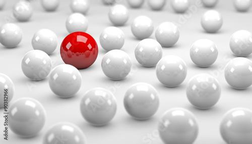 Red / White  Balls  / Concept