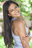 Fototapety Smiling Indian Asian Young Woman Girl