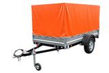 Orange car trailer