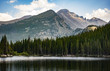 High Altitude Lake in the Rocky Mountains