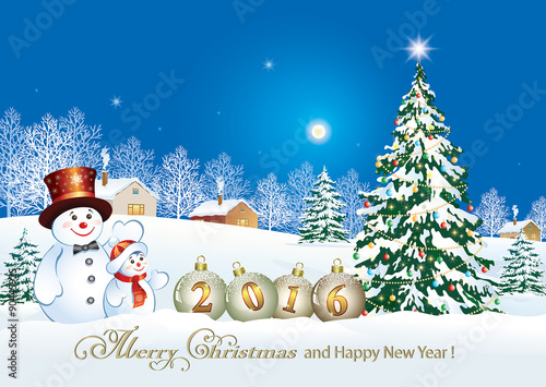 Merry christmas and happy new year 2016 stock image and for Happy christmas vs merry christmas