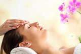 Fototapety Female Facial massage in spa.
