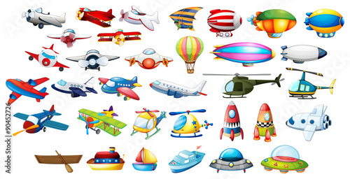 Airplane toys and balloons