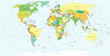 Detaily fotografie World Map - highly detailed vector illustration.
