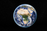 Detailed view of Earth from space, showing Africa. Elements of this image furnished by NASA