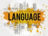 Fototapety LANGUAGE word cloud, education business concept