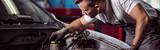 Fototapety Repairing car engine