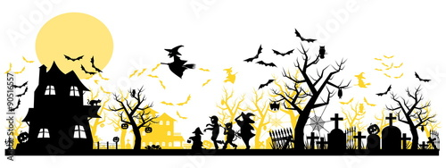 Halloween Background  two layer on transparent background