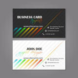 Business card template vector colorful design for individual or business presentation