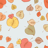 pattern of the falling leaves