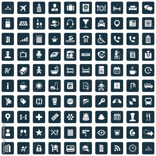 hotel 100 icons universal set