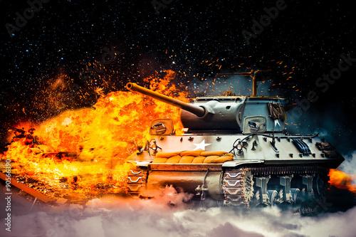 wojsko-zniszczylo-czolg-wroga