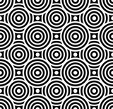 Fototapety Vector modern seamless pattern overlapping circles ,black and white textile print,stylish background, abstract texture, monochrome fashion design, bed sheets or pillow pattern