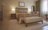Fototapety Idea of hotel bedroom in mediterranean style