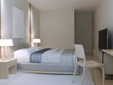 Fototapety Hotel room minimalist style