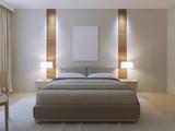 Fototapety Modern master bedroom design