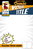 Editable comic book cover with blank space.