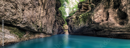 Fotobehang Bergrivier Gorge of the mountain river