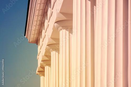 Vintage Columns Architecture Of Ancient Temple Poster