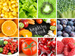 Healthy fresh color food backgrounds