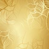 Fototapety Luxury golden floral wallpaper
