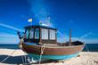 Quadro Fischerboote am Strand von Usedom an der Ostsee