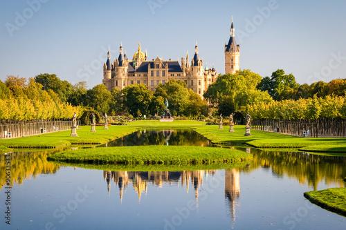 Schweriner Schloss sich im Voir la Poster