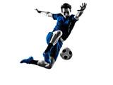Fototapety italian soccer player man silhouette