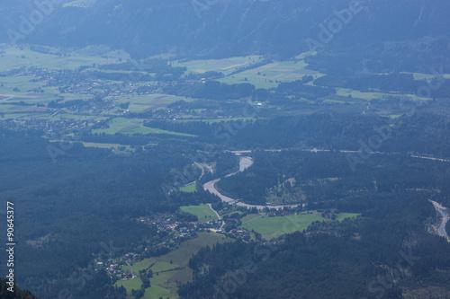 Aussicht vom Berggipfel