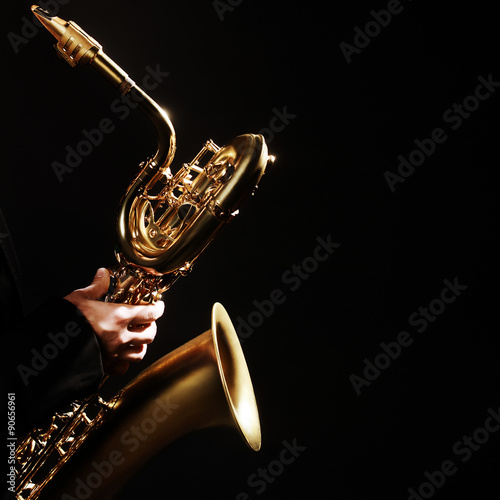 Poster Saxophone Jazz Musical Instruments