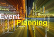 Event planning background concept glowing