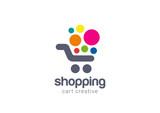 Shopping cart Logo design vector concept icon - 90672947