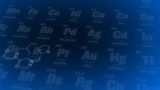 Periodic table. Blue. Periodic table of elements animation poster