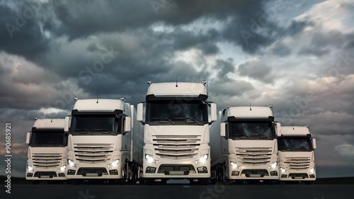 fototapeta na ścianę Truck Fleet