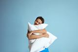 Fototapety woman likes to sleep