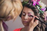Fototapety Beautiful Bride Portrait wedding makeup