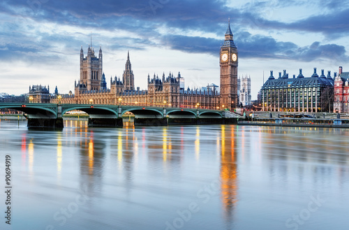 Foto op Aluminium Oude gebouw London - Big ben and houses of parliament, UK