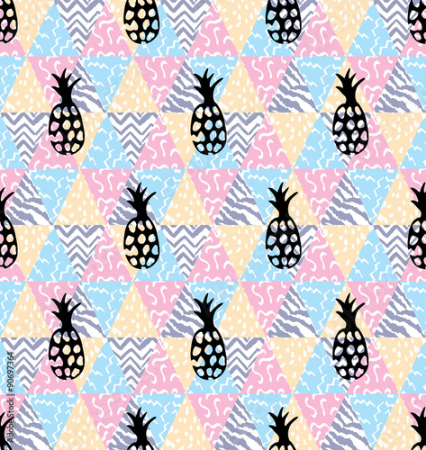 pineapple geometric seamless background